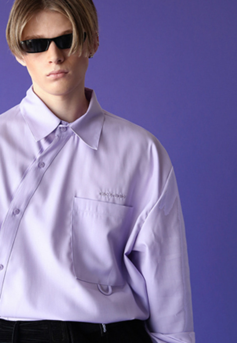 ESC Studio이에스씨스튜디오 Oblique shirt (light purple)