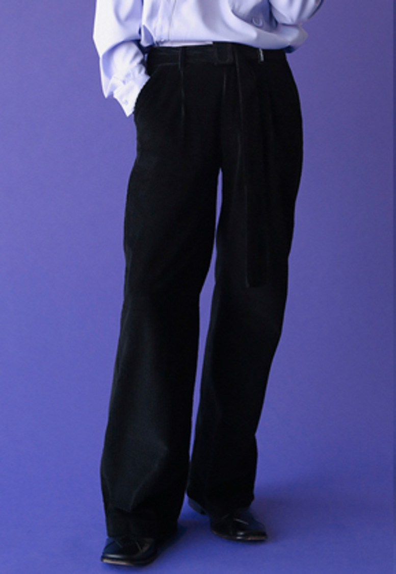 ESC Studio이에스씨스튜디오 Corduroy wide pants (black)