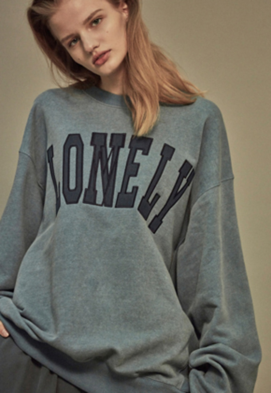 NOHANT노앙 LONELY/LOVELY SWEATSHIRT SKY BLUE