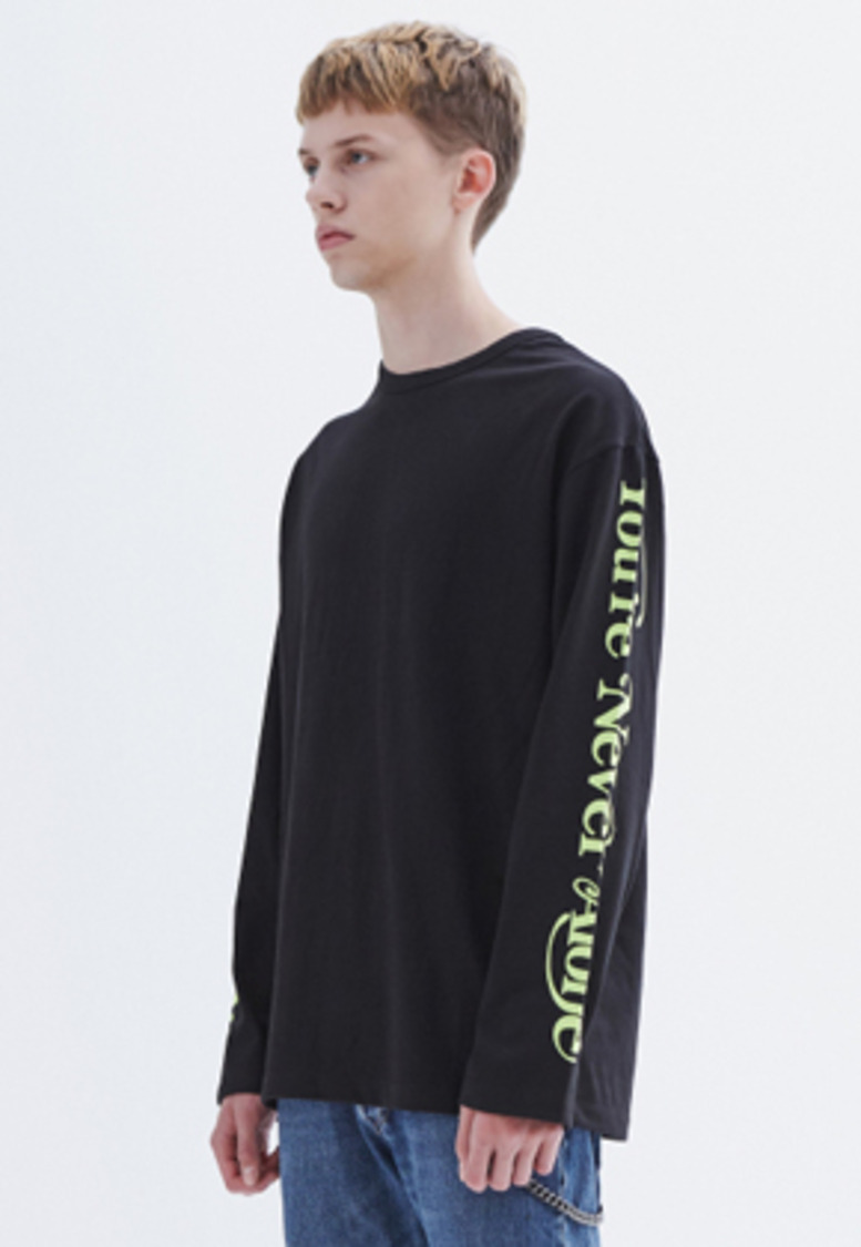 MMGL미니멀가먼츠랩 YNA long-sleeve T-shirt (Black)