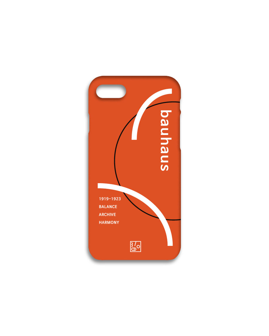 THREE TO EIGHTY쓰리투에이티 1920's Bauhaus iPhone case - Orange