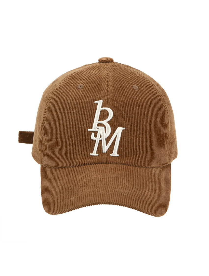 13Month써틴먼스 CORDUROY LOGO BALL CAP (BROWN)