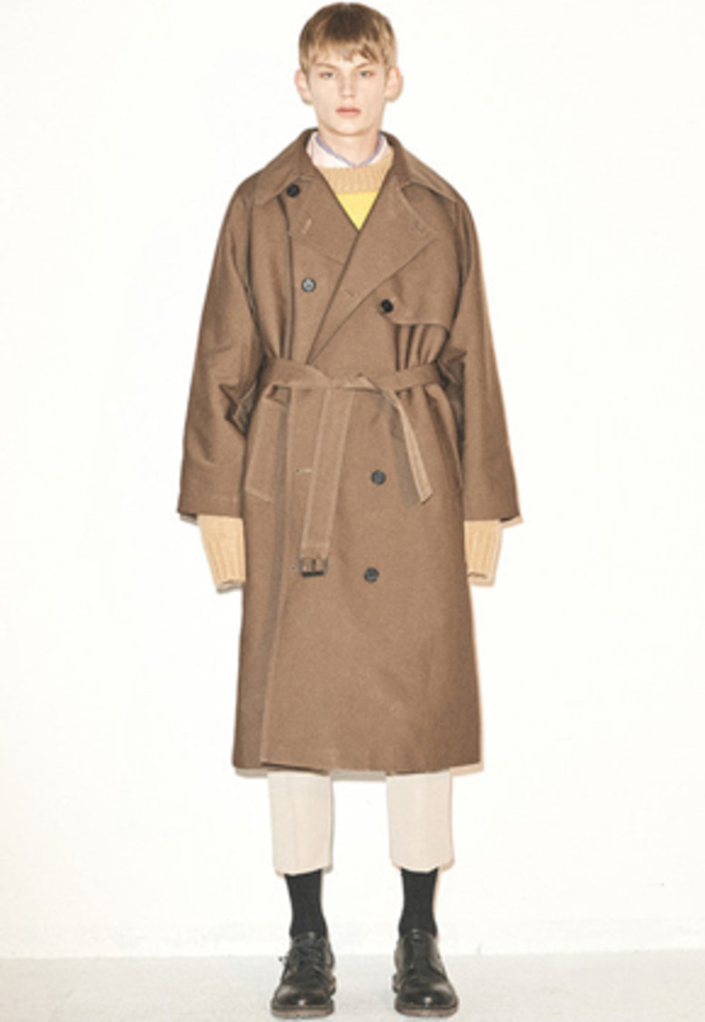 Haleine알렌느 BROWN heavy cotton raglan trench coat