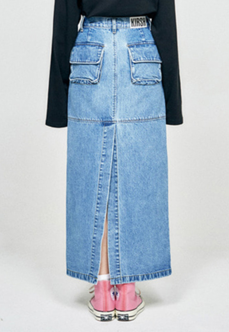 KIRSH키르시 POCKET LONG SKIRT HA [BLUE]