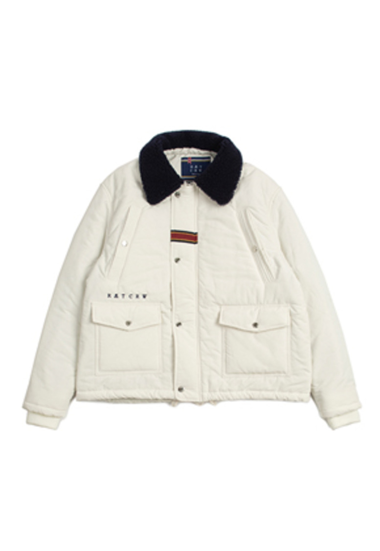 Romantic Crown로맨틱크라운 Chest Pocket Sherpa Jacket_Oatmeal