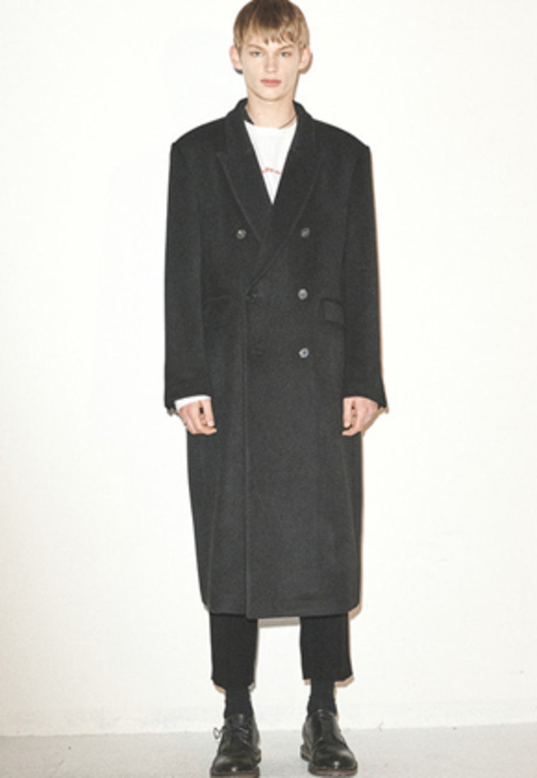 Haleine알렌느 BLACK oversized doublebreast coat