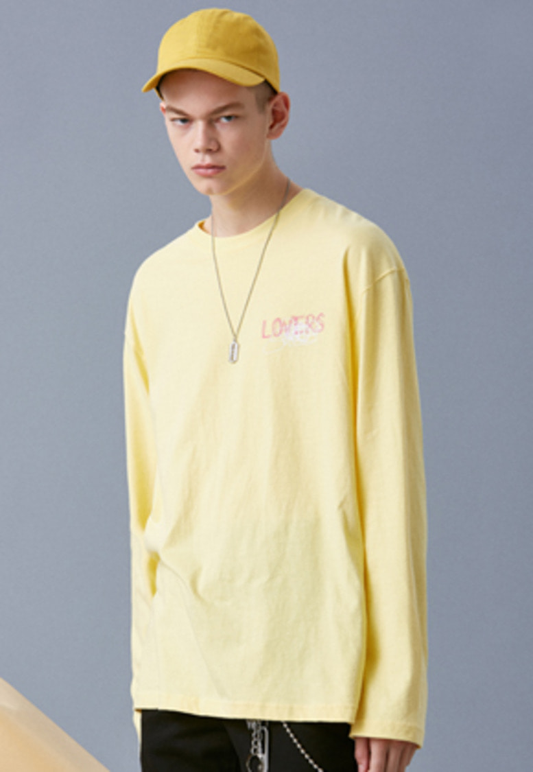 Voiebit브아빗 V341 GRAFFITI LONG-SLEEVED  YELLOW