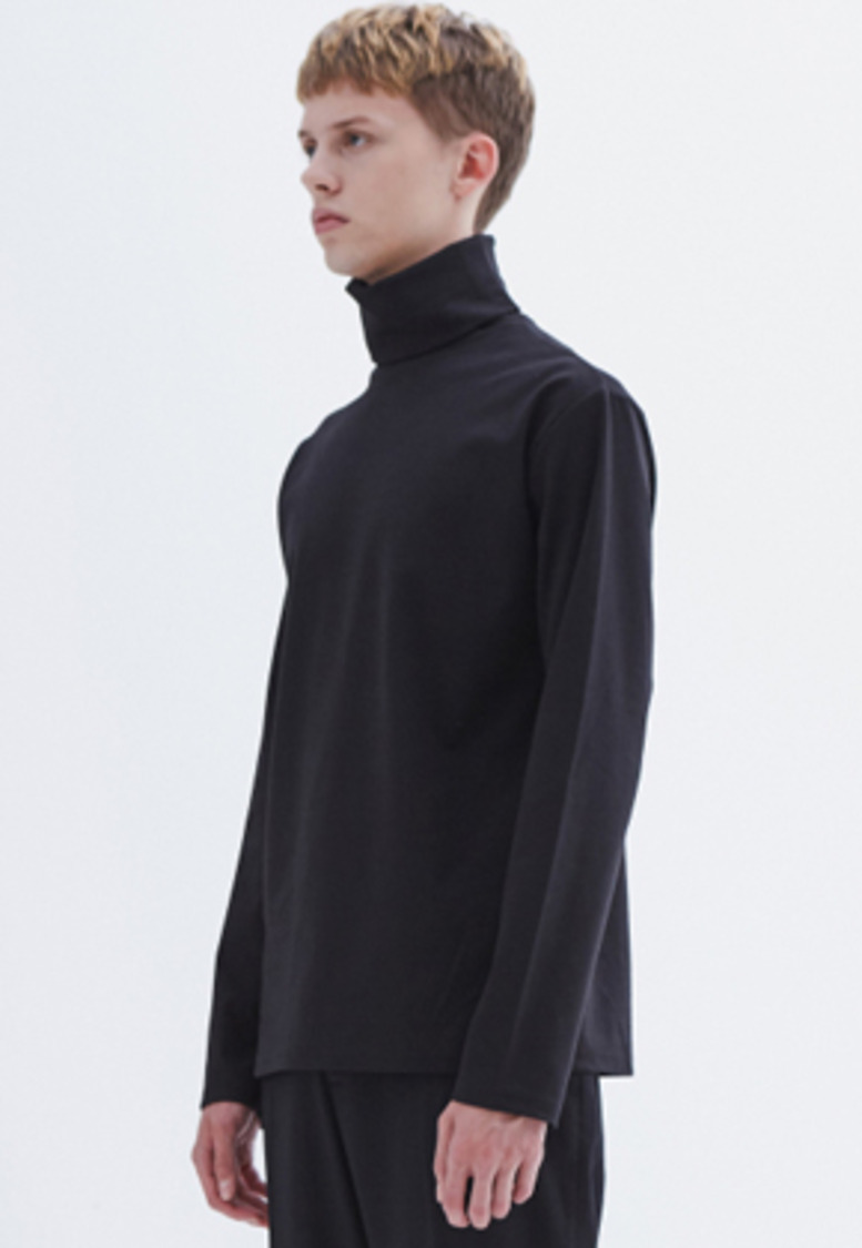 MMGL미니멀가먼츠랩 Turtleneck t-shirt (Black)