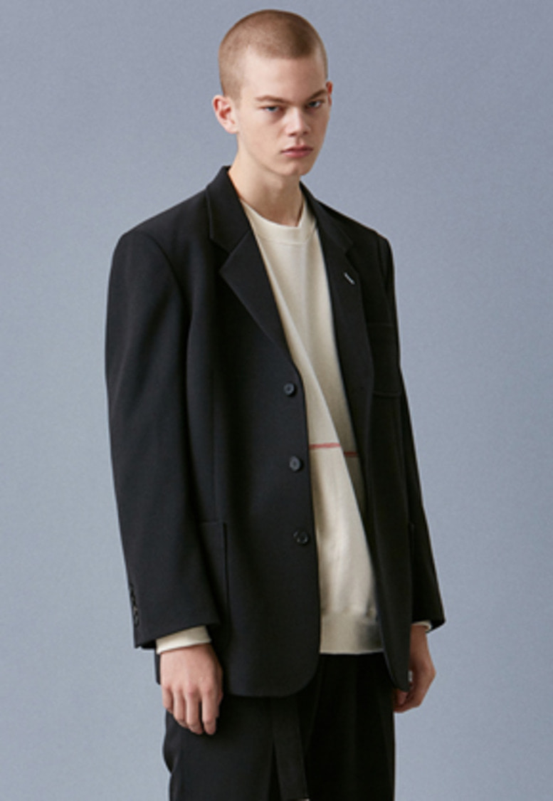 Voiebit브아빗 V634 LAYON OVER SINGLE JACKET  BLACK