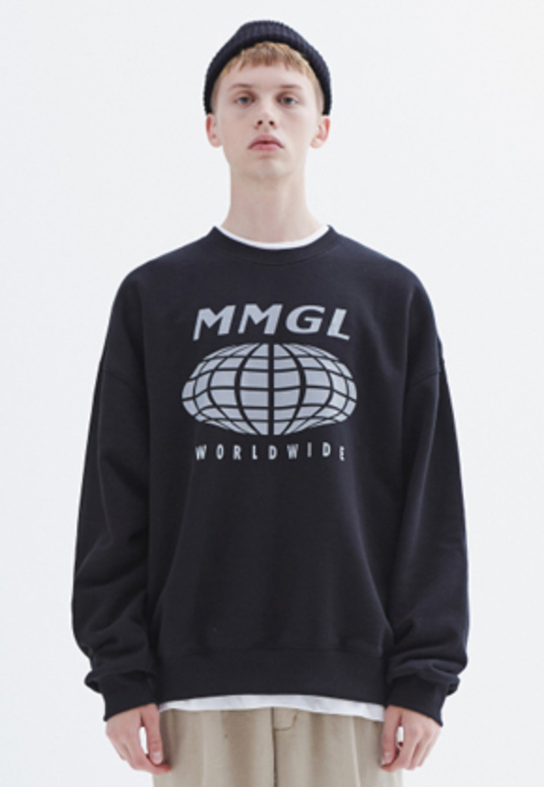 MMGL미니멀가먼츠랩 Worldwide oversized sweatshirt (Black)