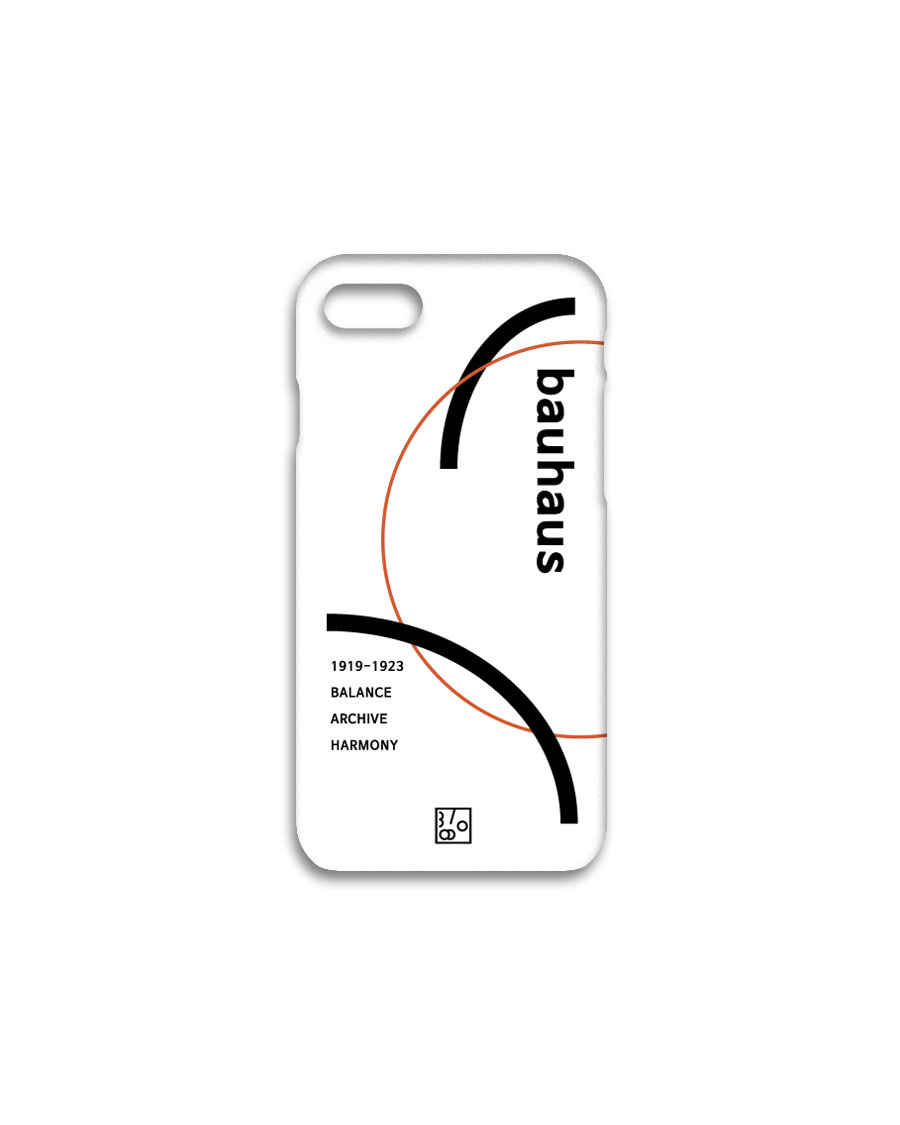 THREE TO EIGHTY쓰리투에이티 1920's Bauhaus iPhone case - White