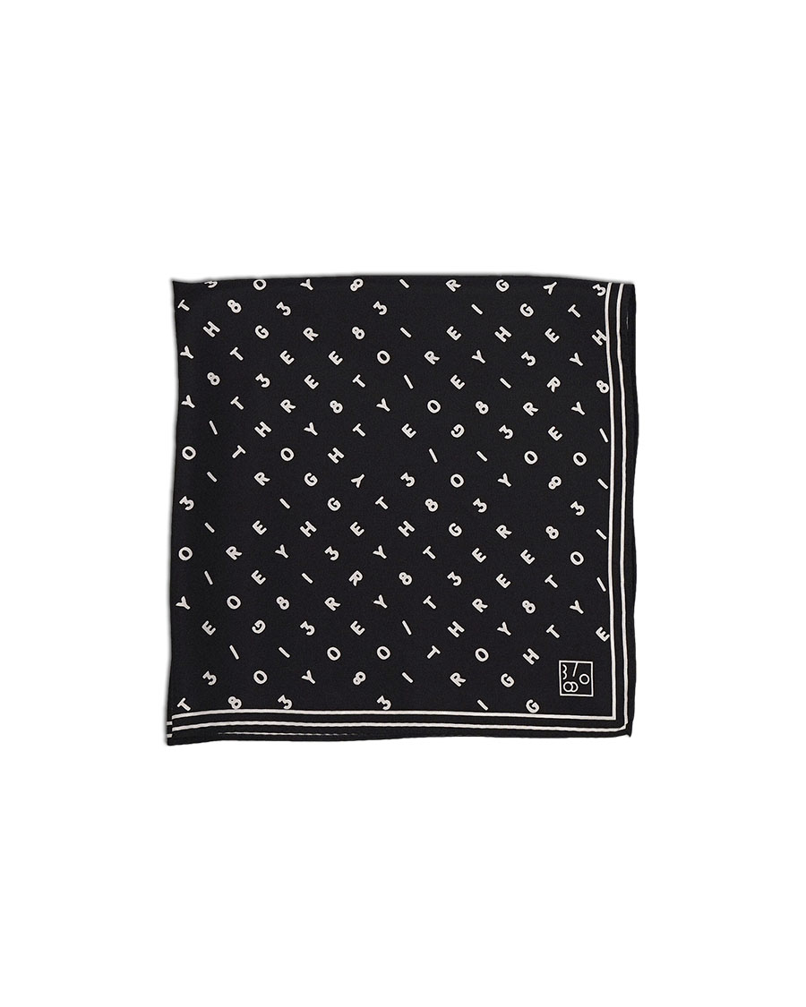 THREE TO EIGHTY쓰리투에이티 3/80 Signature Scarf - Black / 3차입고
