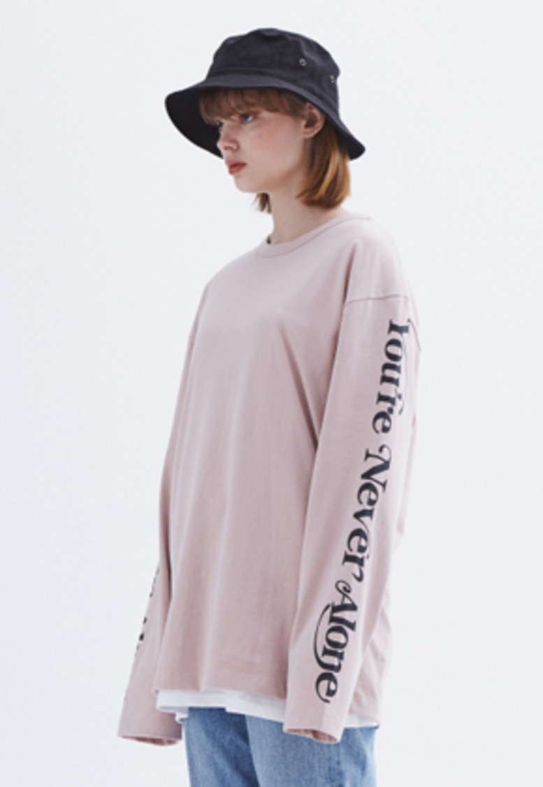 MMGL미니멀가먼츠랩 YNA long-sleeve T-shirt (Pink)