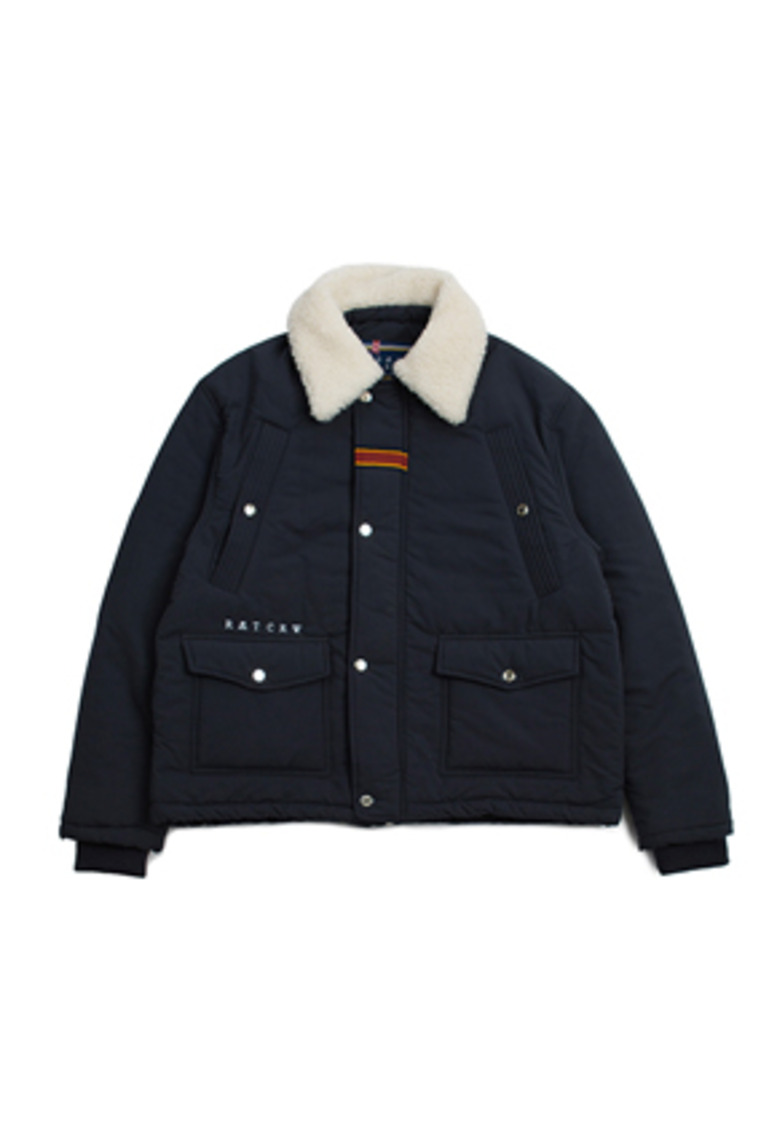Romantic Crown로맨틱크라운 Chest Pocket Sherpa Jacket_Navy