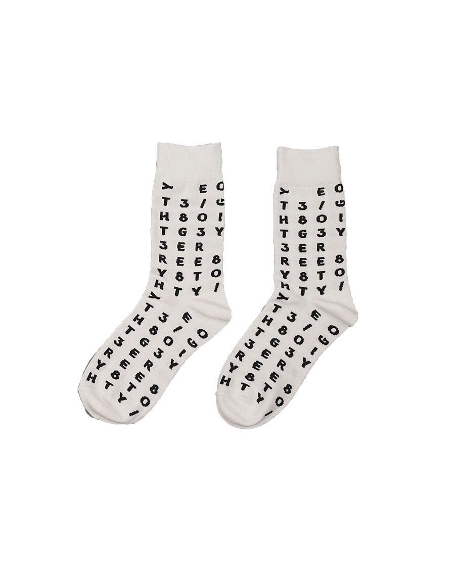 THREE TO EIGHTY쓰리투에이티 Signature Socks - White / 2차입고