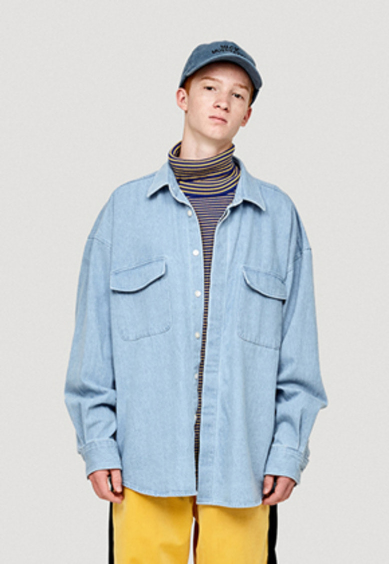 WKNDRS위캔더스 OVERSIZED DENIM SHIRT JK (L.DENIM)