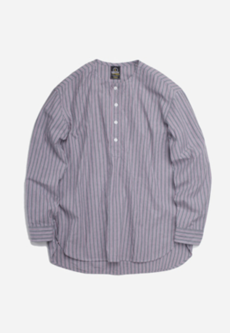 FRIZMWORKS프리즘웍스 Glad henley neck shirt _ gray stripe