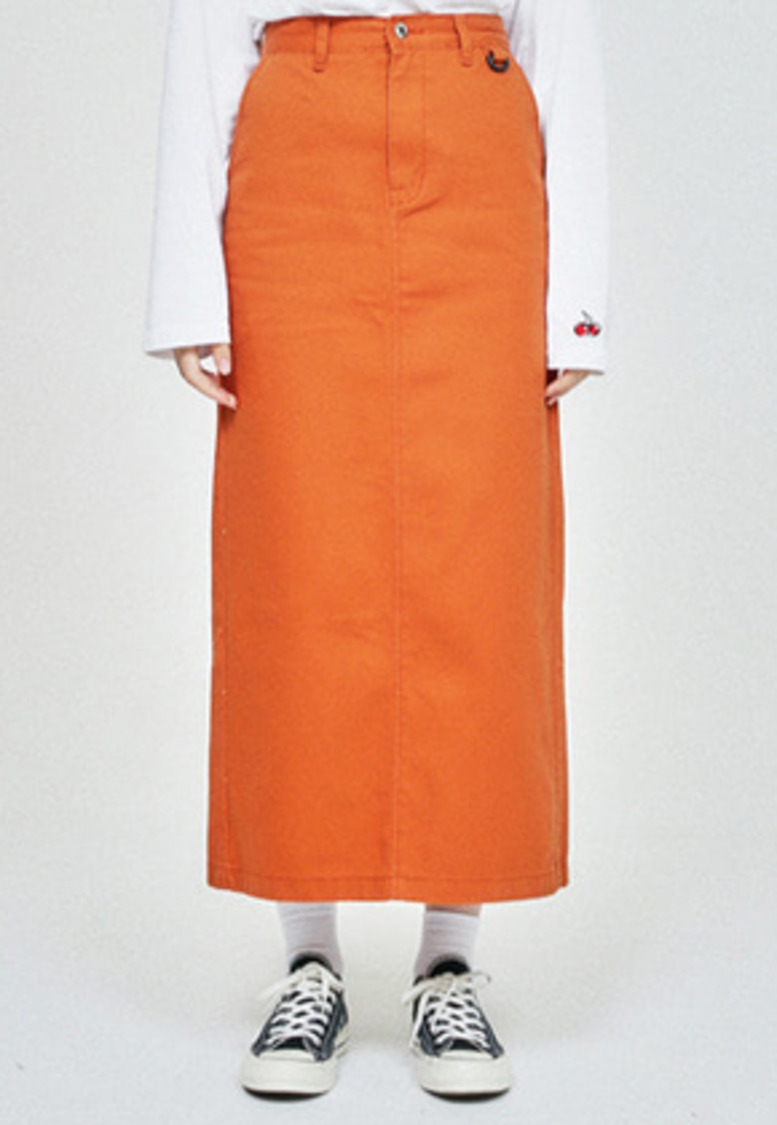 KIRSH키르시 POCKET LONG SKIRT HA [ORANGE]