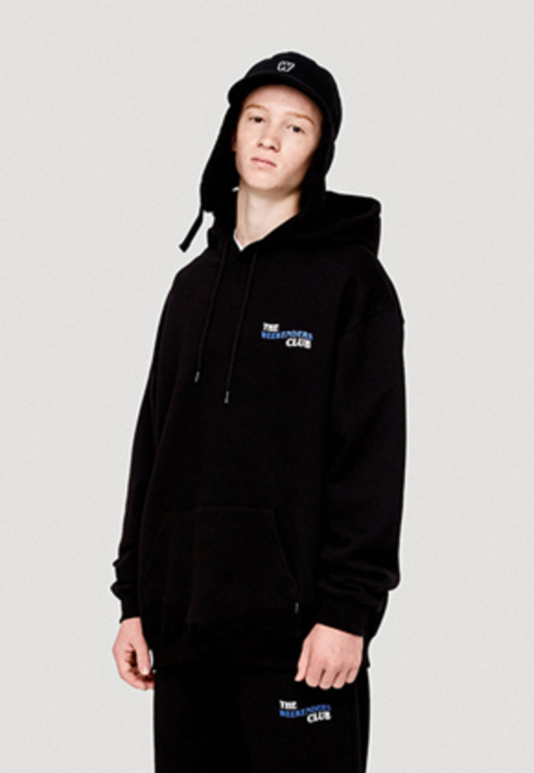WKNDRS위캔더스 THE WEEKENDERS CLUB HOODIE (BLACK)