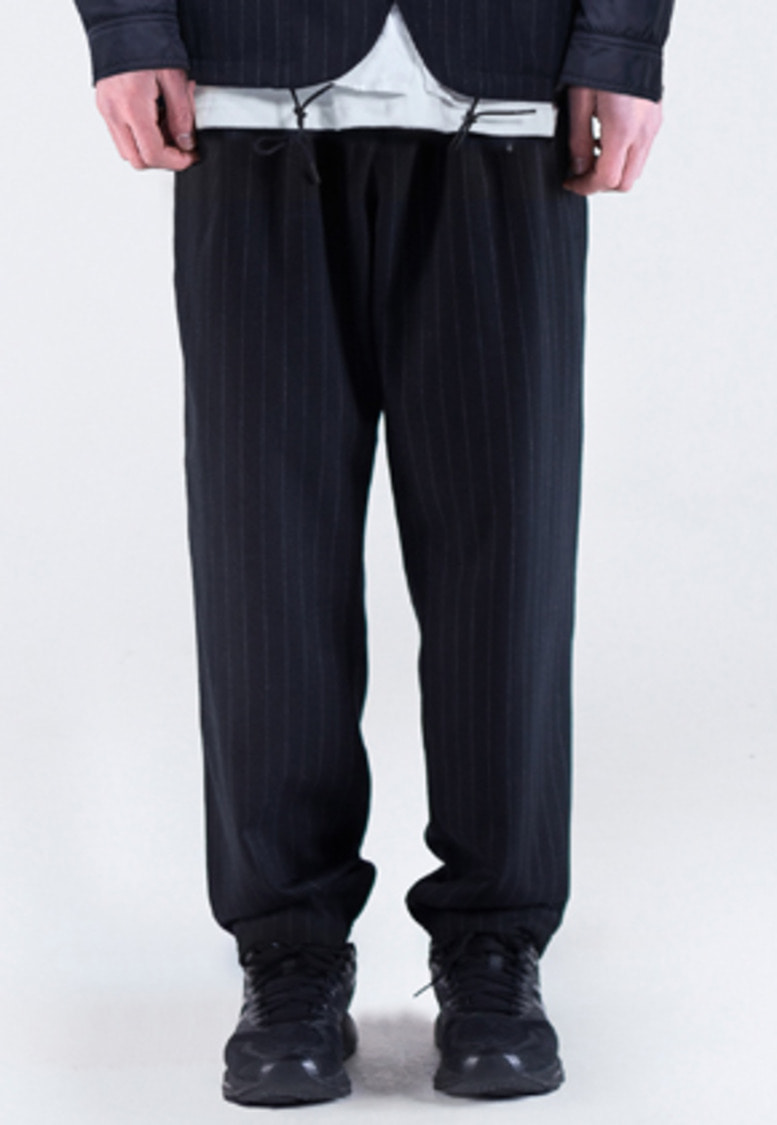 FROMMARK프롬마크 WOOL TWO TUCK PANTS(STRIPE) Navy
