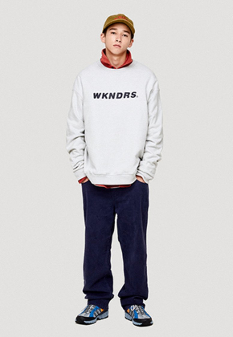 WKNDRS위캔더스 BASIC COTTON PANTS (BLUE)