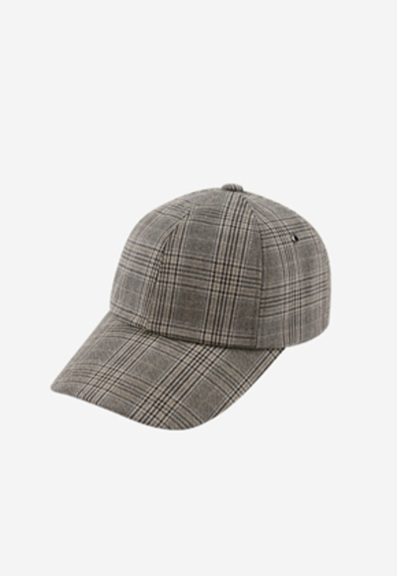 Anderssonbell앤더슨벨 UNISEX CHECK BASEBALL CAP aaa084u(BEIGE CHARCOAL CHECK)