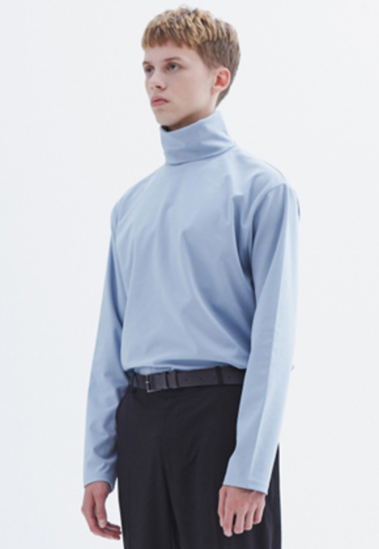 MMGL미니멀가먼츠랩 Turtleneck t-shirt (Powder-blue)