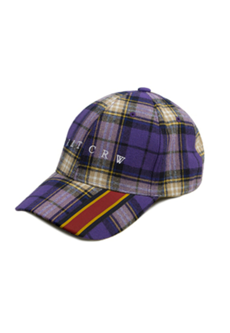 Romantic Crown로맨틱크라운 Webbing Check Ball Cap_Purple