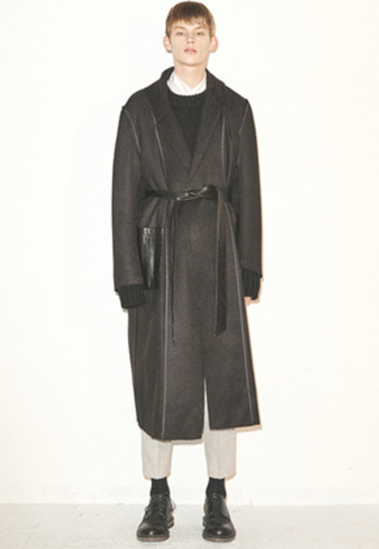 Haleine알렌느 BLACK cashmere effect reversible coat