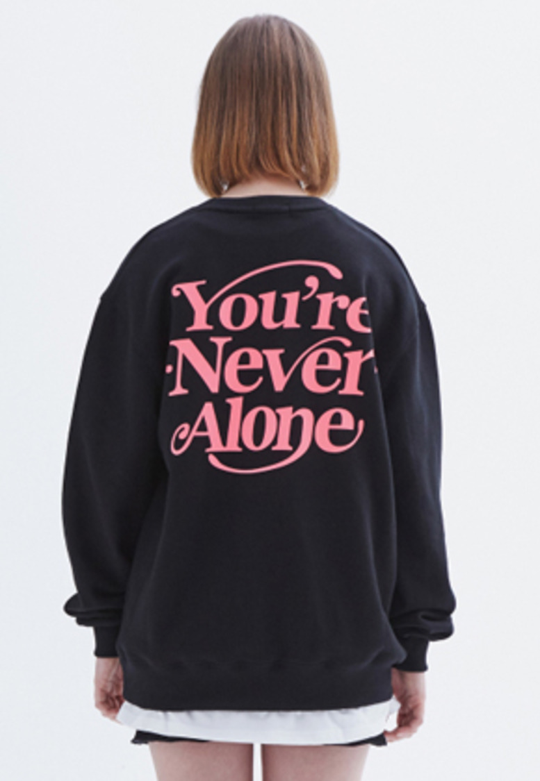 MMGL미니멀가먼츠랩 YNA semi-oversized sweatshirt (Black-pink)