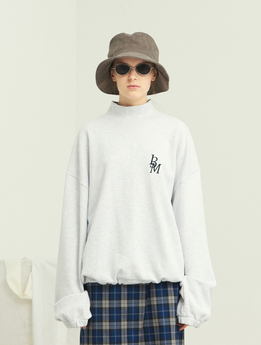 13Month써틴먼스 TURTLENECK WAIST STRING SWEAT SHIRT (GRAY)