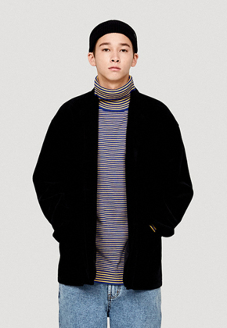 WKNDRS위캔더스 CORDUROY SINGLE JACKET (BLACK)