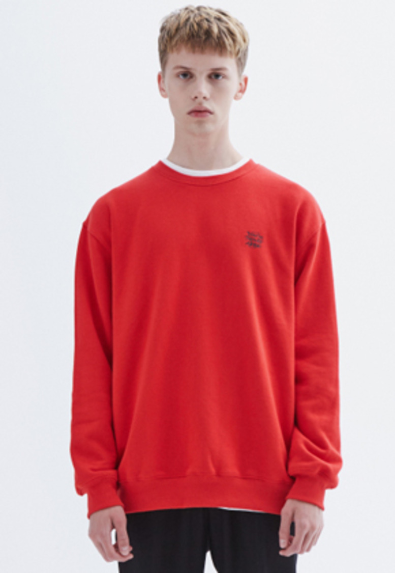 MMGL미니멀가먼츠랩 YNA semi-oversized sweatshirt (Red)