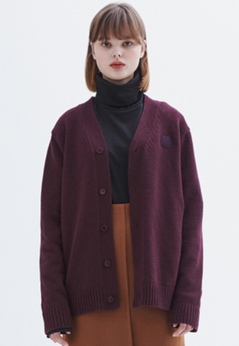 MMGL미니멀가먼츠랩 YNA cardigan sweater (Burgundy)