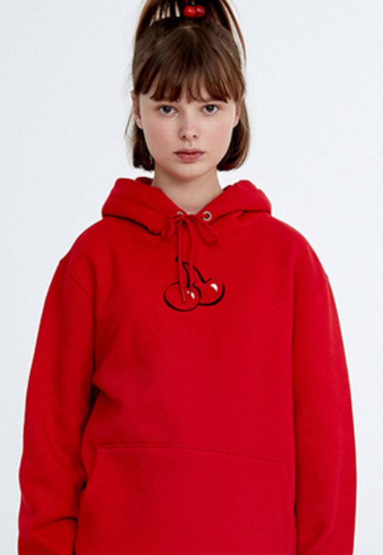 KIRSH키르시 [당일배송] MIDDLE CHERRY HOODIE HA [RED]