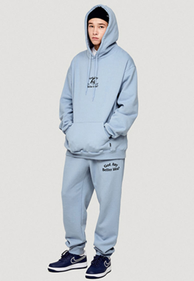 WKNDRS위캔더스 IDEA SWEAT PANTS (S.BLUE)