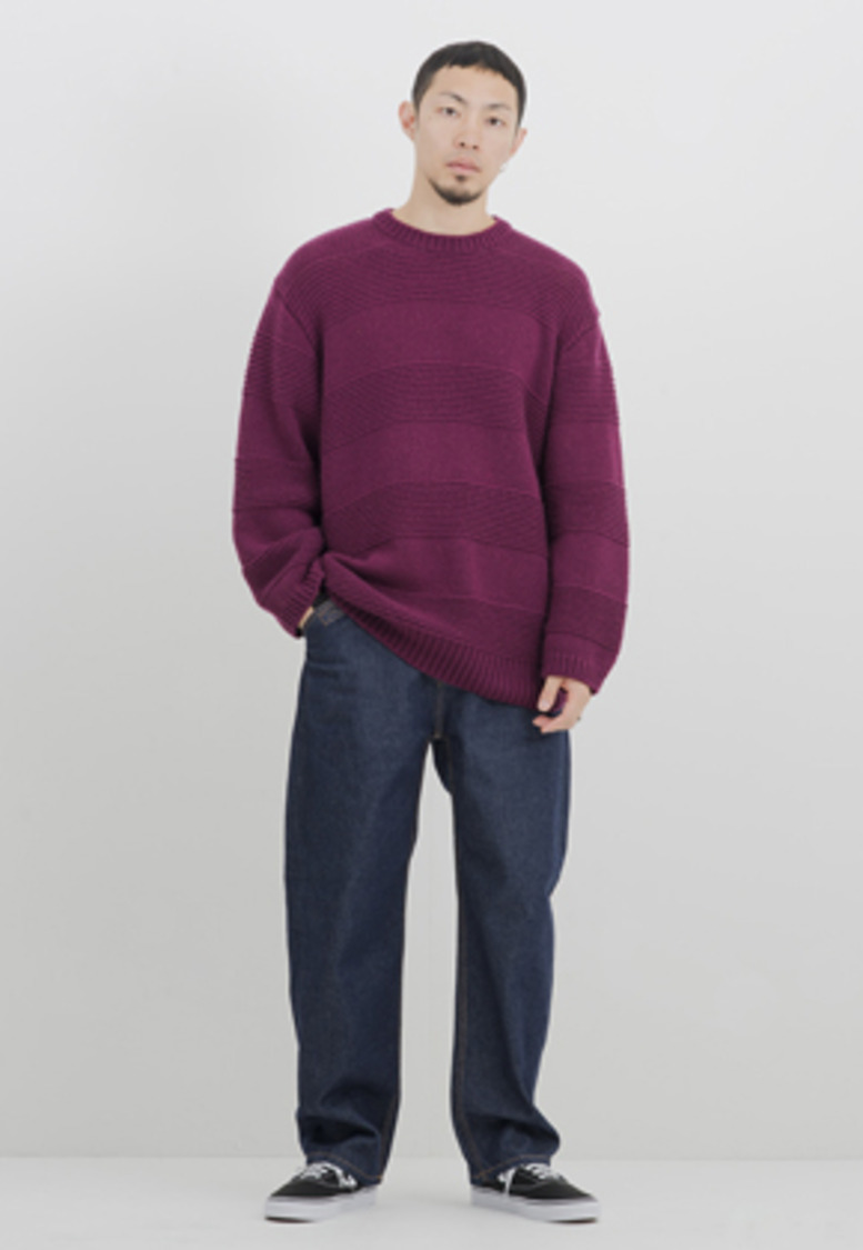 Gakuro가쿠로 Crewneck Sweater (Purple)