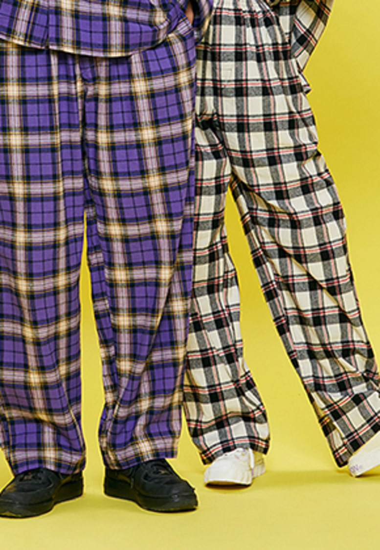 NEONMOON네온문 NEONDUST. 18F CHECK PANTS