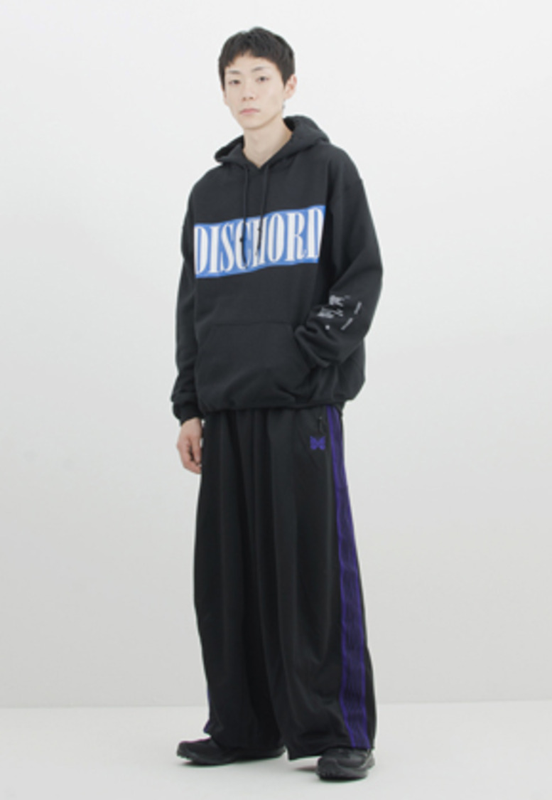 Gakuro가쿠로 'Dischord' Hood Sweat (Black)