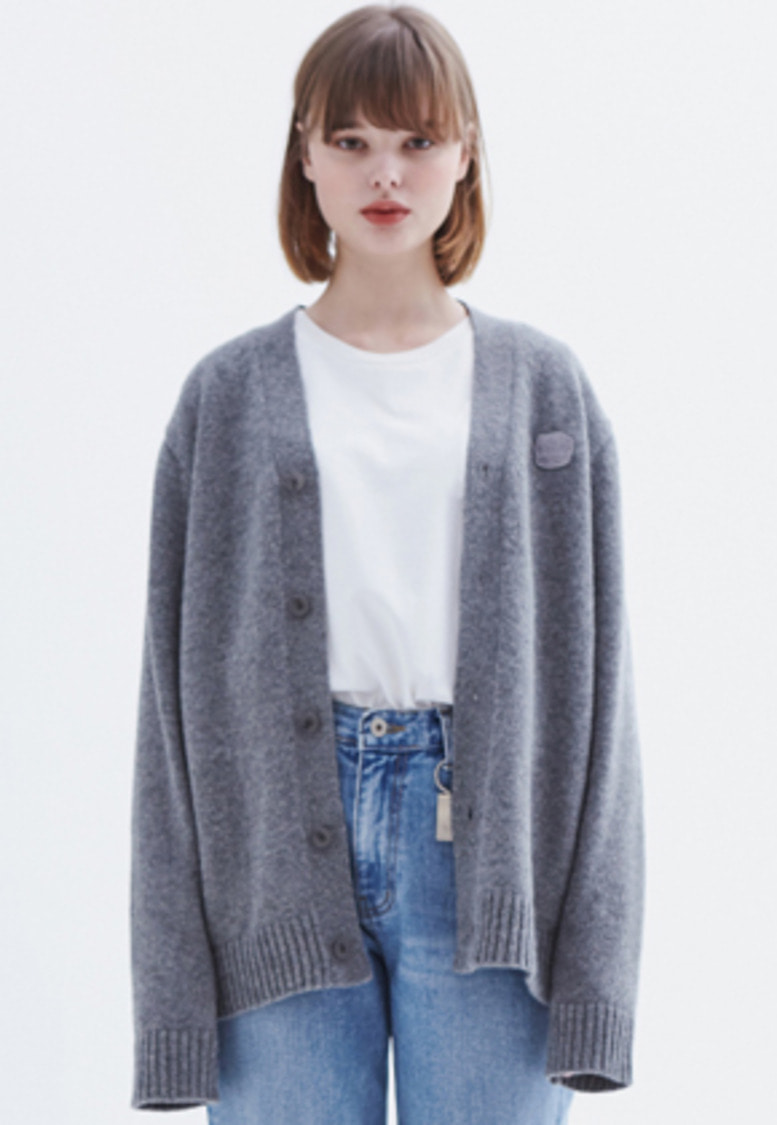 MMGL미니멀가먼츠랩 YNA cardigan sweater (M/grey)