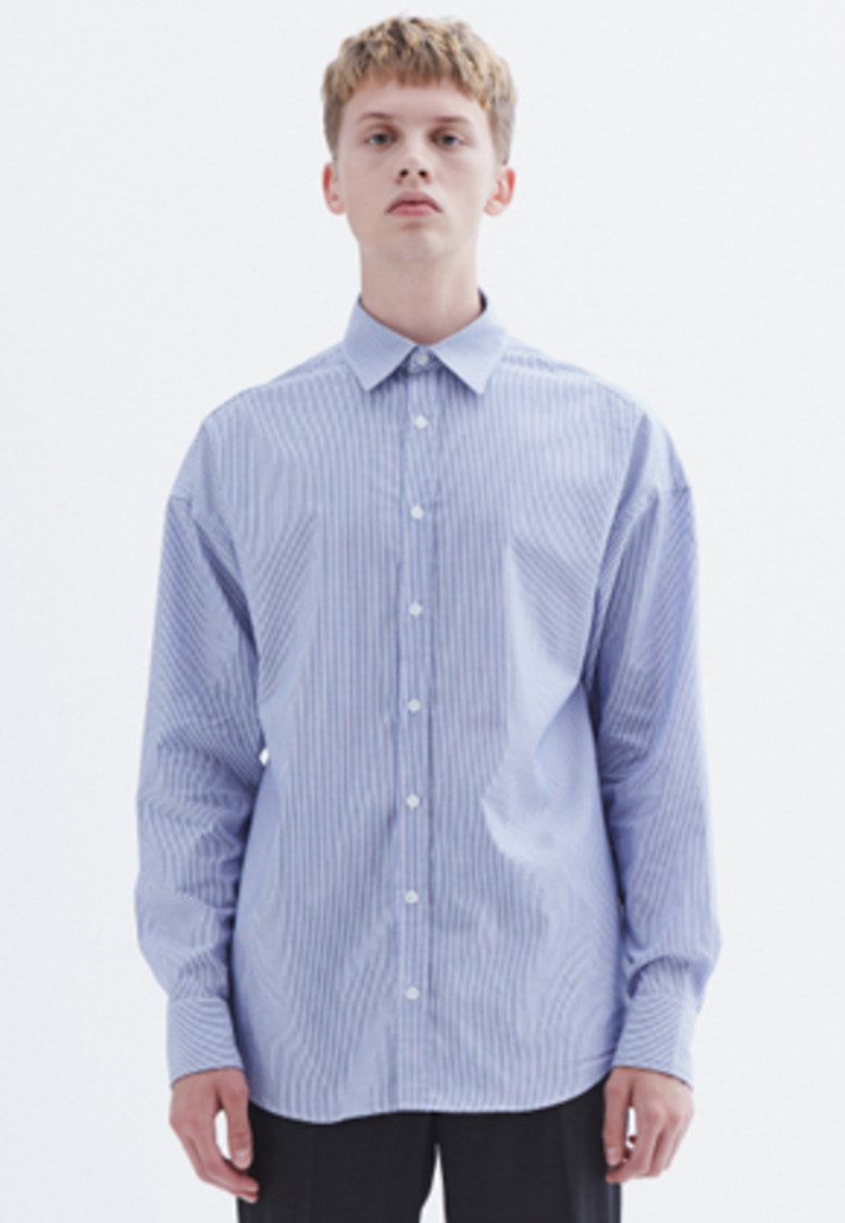 MMGL미니멀가먼츠랩 Semi-oversized shirt (Stripe)
