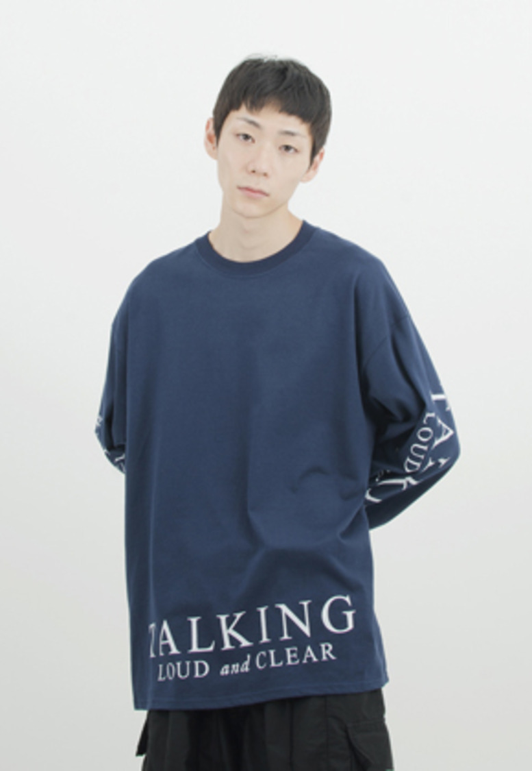 Gakuro가쿠로 'TALKING LOUD & CLEAR' T-Shirt (Navy)