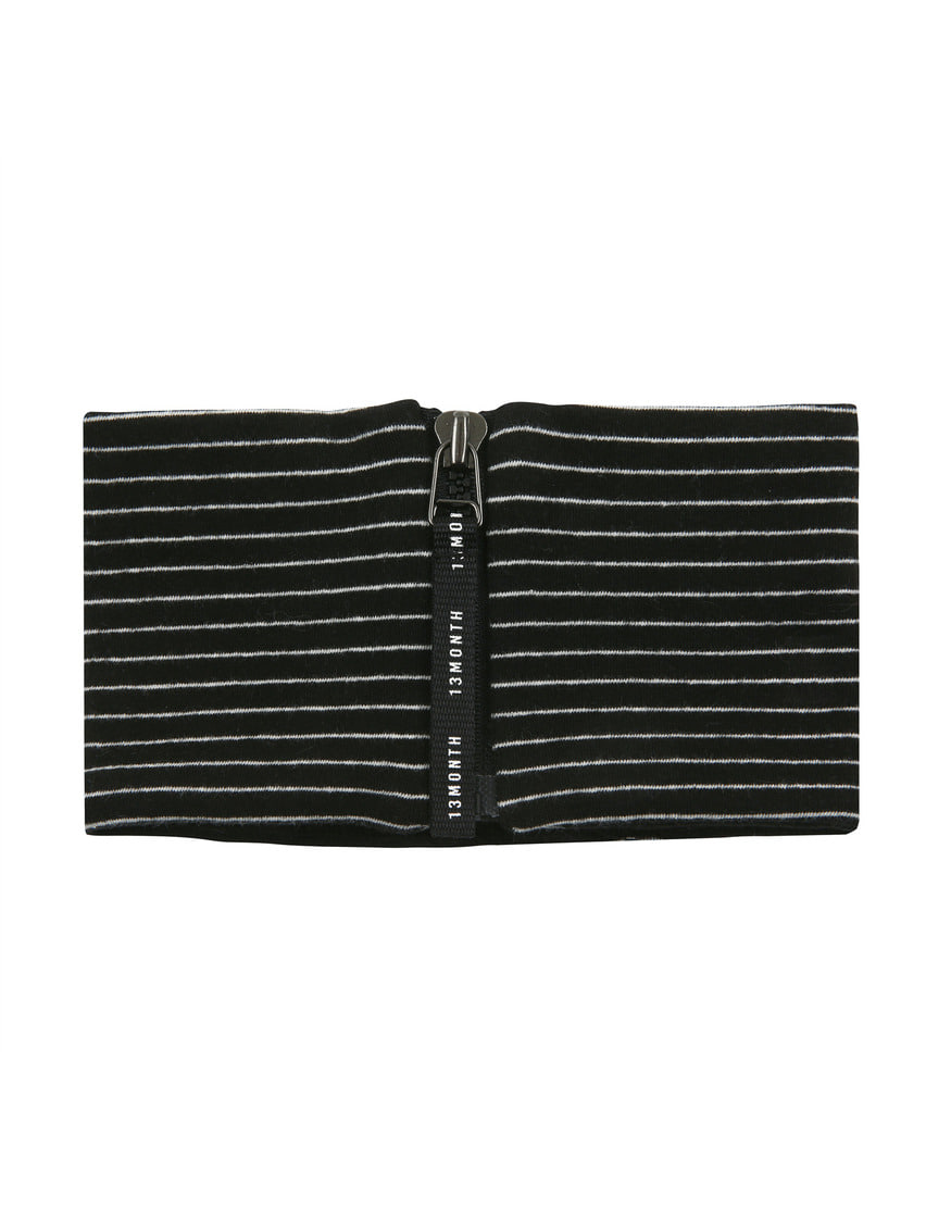 13Month써틴먼스 ZIP-UP NECK WARMER (STRIPE BLACK)