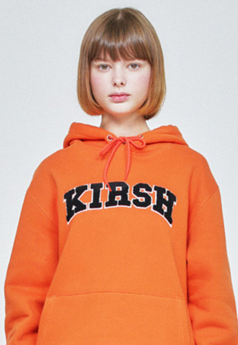 KIRSH키르시 KIRSH ARCH LOGO HOODIE HA [ORANGE]