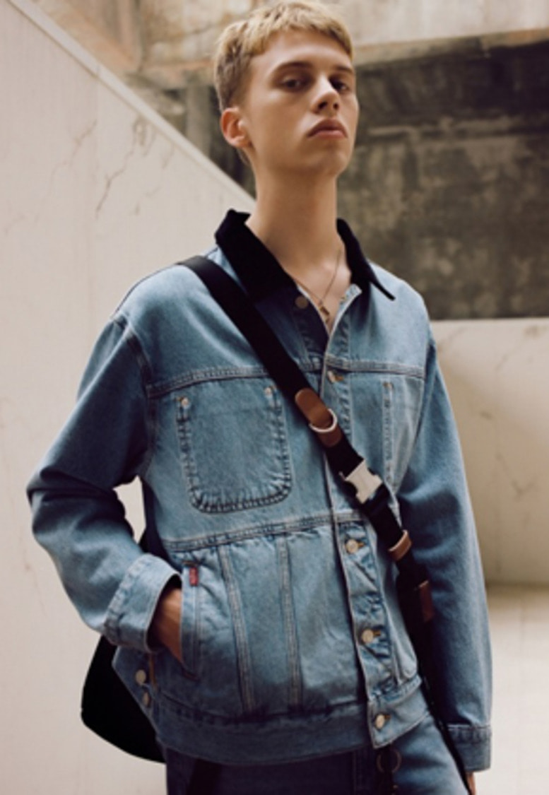 Anderssonbell앤더슨벨 UNISEX INSIDE OUT DENIM JACKET awa154u(Blue)