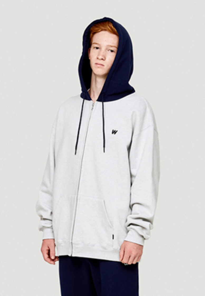 WKNDRS위캔더스 W LOGO HOODED ZIP JK (GREY)