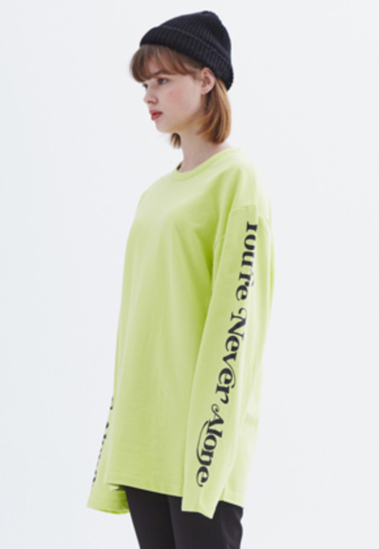 MMGL미니멀가먼츠랩 YNA long-sleeve T-shirt (Lime)