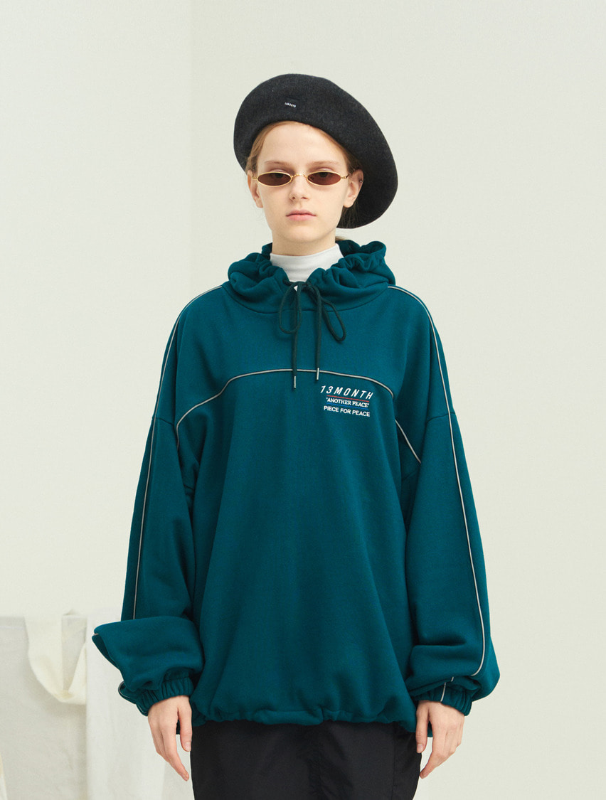 13Month써틴먼스 PIPING WAIST STRING HOOD (GREEN)