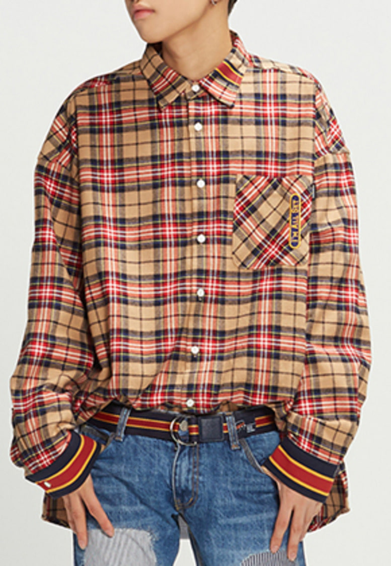 Romantic Crown로맨틱크라운 RMTCRW Check Shirt_Beige