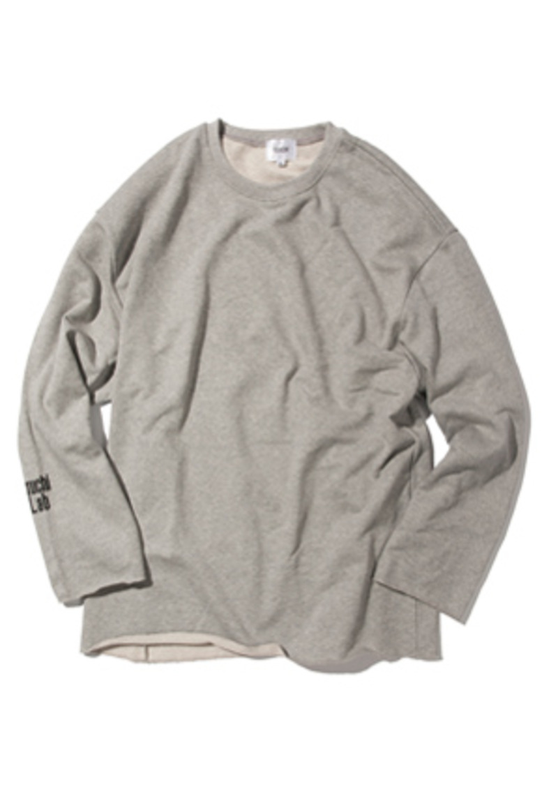 Kruchi크루치 Lab logo loose fit Crewneck - (Gray)